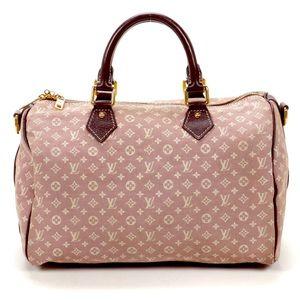 Auth. LOUIS VUITTON Sepia Idylle Speedy 30 Handbag